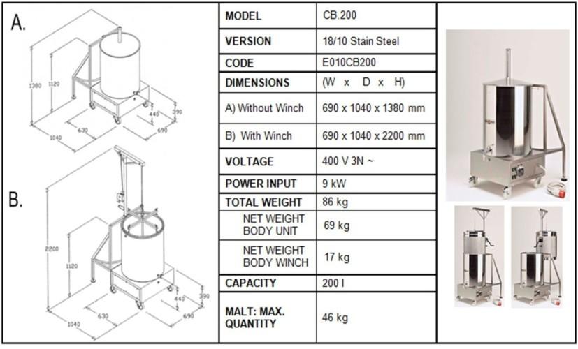 Camurri Brauer Brewing System 50 Litres