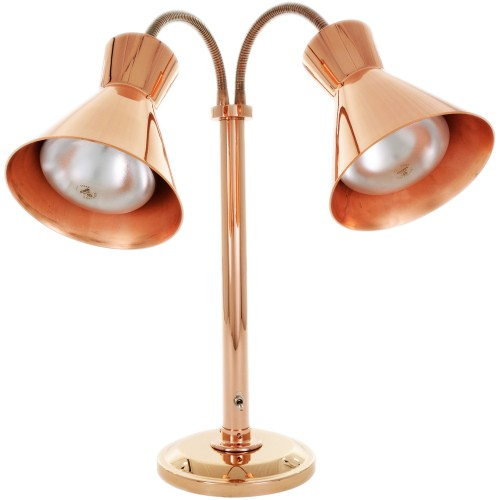 Hanson Heat Lamps Dlm 300 St Bcop Dual Bulb Flexible Freestanding Streamline Heat Lamp With Bright Copper Finish 115 230v Halls International Specialists In Catering Equipment