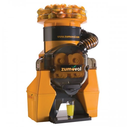 Zumoval Heavy-Duty Compact Automatic Feed Orange Juice Machine with Self Cleaning and Self Tap Features - 28 Oranges / Minute added to your basket