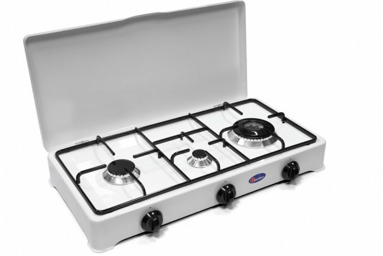 Parker 3 burners gas stove for indoor use mod. 5328 GPS/C added to your basket
