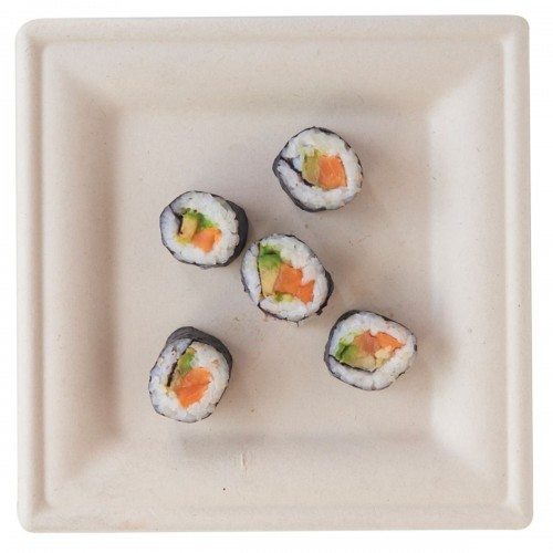 """Plastico Eco-Fibre Square Plate 10"""" (Case of 500) added to your basket"""