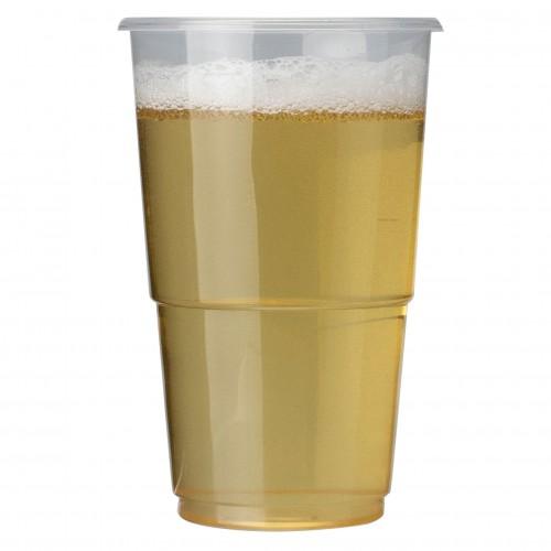 Plastico Flexy-Glass Polypropylene Half Pint 10oz CE Brim Clear added to your basket