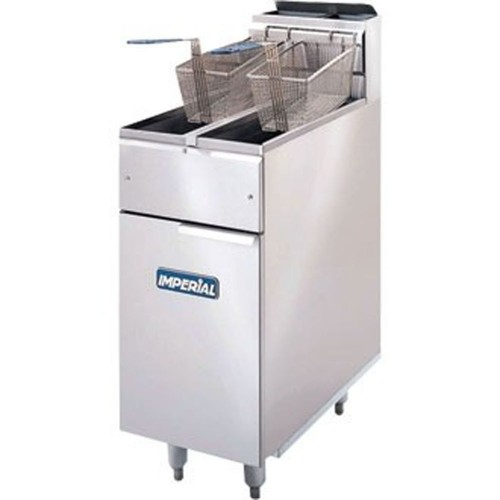Imperial IFS-2525-E-LOE Freestanding Twin Tank Lift Out Element Electric Fryer added to your basket