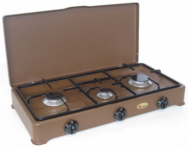 Parker 3 burners natural gas stove for outdoor use mod. 5328 GPm CORTEN added to your basket
