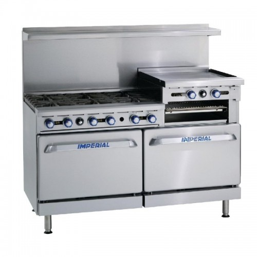 Imperial 6 Burner and Griddle Gas Oven Range IR6RG24 added to your basket
